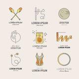 Gymnastics Logos Stock Images