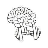 Gymnastics for the mind.. Illustration Stock Images