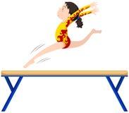 Free Gymnastics On Balance Beam Stock Image - 73354101
