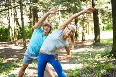 Gymnastics outdoors Stock Photos