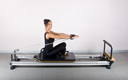 Gymnastics pilates Royalty Free Stock Image