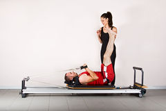 Gymnastics pilates Stock Images