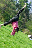 Gymnastics posture Royalty Free Stock Image