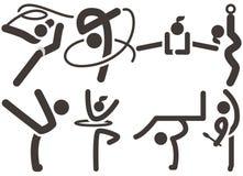 Gymnastics Rhythmic icons Stock Images