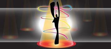 Gymnastics ribbon dance Stock Photography