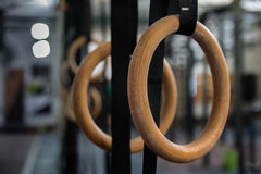 Gymnastics Rings in the gym Stock Image