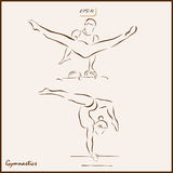 Gymnastics stock illustration