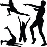Gymnastics silhouette vector Royalty Free Stock Photos