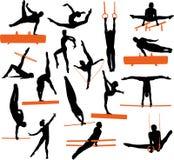 gymnastics silhouettes illustration