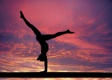 Gymnastics sky Royalty Free Stock Photography