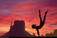 Gymnastics sky Stock Photos
