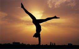Gymnastics sky Royalty Free Stock Photography