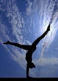 Gymnastics sky Royalty Free Stock Photo