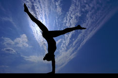 Gymnastics sky Royalty Free Stock Photos
