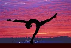 Gymnastics sky Stock Photo