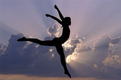 Gymnastics sky Stock Photography