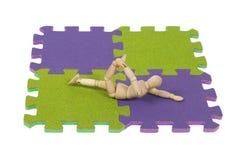 Gymnastics stretching on the mat Stock Photo