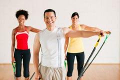 Gymnastics  training in gym Royalty Free Stock Photo