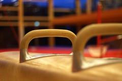 Gymnastics. Training for pommel horse in gymnastics Stock Images