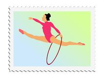 Gymnastics. Vector stamp Stock Images