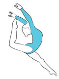 Gymnastics: Women. Women Gymnastics on isolated white Stock Photo