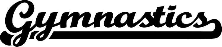 Gymnastics Word. In retro style vector Royalty Free Stock Image