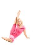 Gymnastics. young woman Stock Photo