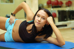 Gymnastiek-. royalty-vrije stock afbeeldingen