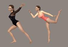 Gymnastiek royalty-vrije illustratie
