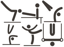 Gymnastiek Artistiek pictogram stock illustratie