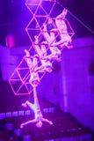 Gymnastiek- de Wereld van het Jejucircus toont Royalty-vrije Stock Foto's