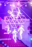 Gymnastiek- de Wereld van het Jejucircus toont Stock Foto's