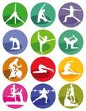Gymnastiek en geschiktheidscijfers Stock Afbeelding