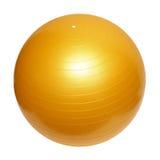 Gymnastiek- gele bal royalty-vrije stock afbeelding