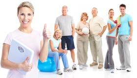 Gymnastiek, Geschiktheid, gezonde levensstijl Stock Afbeelding