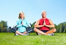 Gymnastiek, Geschiktheid, gezonde levensstijl. Stock Foto's