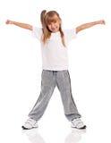Gymnastiek- meisje stock fotografie