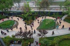 Gymnastiek in park naast Stadsmuur Xian Royalty-vrije Stock Foto's