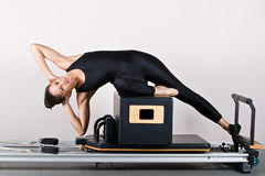 Gymnastiek pilates Stock Afbeeldingen