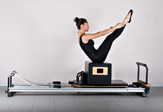 Gymnastiek pilates Stock Foto