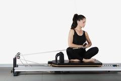 Gymnastiek pilates stock fotografie