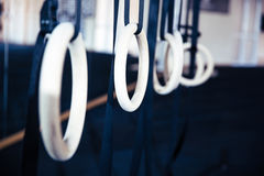 Gymnastiek- ringen Royalty-vrije Stock Foto's