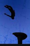 Gymnastiek- silhouet Royalty-vrije Stock Afbeelding