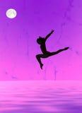 Gymnastiek- silhouet Stock Foto