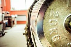 Gymnastiekbinnenland met materiaal Royalty-vrije Stock Fotografie
