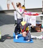 Gymnastiekmeisje Royalty-vrije Stock Foto's
