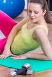 Gymnastiekmeisje Royalty-vrije Stock Afbeeldingen