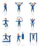 Gymnastiekpictogrammen Royalty-vrije Stock Afbeelding
