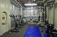 Gymnastiekruimte op een zeeschip Royalty-vrije Stock Fotografie