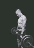 Gymnastiektraining De training van de Bodybuildingsvrouw in de gymnastiek royalty-vrije stock fotografie